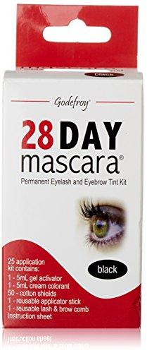 Godefroy 28 Day Mascara Permanent Eyelash and Eyebrow Tint Kit Black