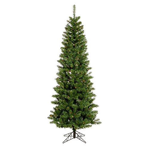 Vickerman 45' Salem Pencil Pine Artificial Christmas Tree with 150 Multi-colored LED lights