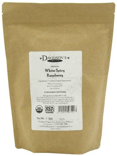 Davidson's Tea, White Spicy Raspberry, 16-Ounce Bag