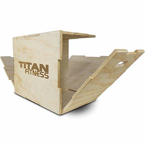 Titan Fitness 16 20 24 Wood Plyometric Box HD Plyo Box Jump Exercise Training