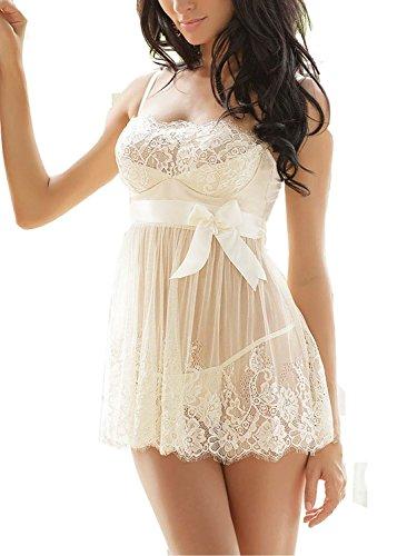 Alter Womens Sexy Lingerie Nightwear Sleepwear Underwear Babydoll with G-string
