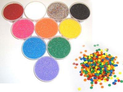 All 10 Colors of 4 oz. Sanding Sugars plus a 4 oz. Rainbow Confetti Tub Kit Americolor
