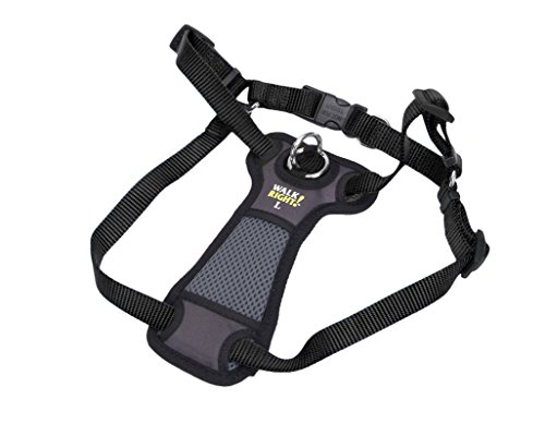 Coastal Pet Products Coastal Pet Walk Right! Front-Connect Padded Harness, Medium, Black