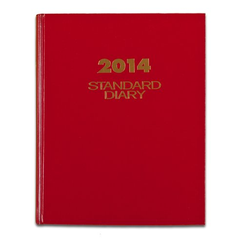 AT-A-GLANCE 2014 Standard Daily Diary, Red, 7.18 x 9.75 x 1.25 Inches (SD374-13)