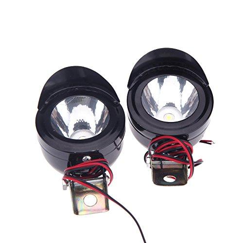 Anself 2Pcs Universal Motorcycle Motorbike LED Front Headlight Motorcycle Head Lamp Spot Light
