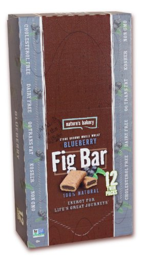 Nature's Bakery Fig Bar, Whole Wheat Blueberry, 12 Count Box
