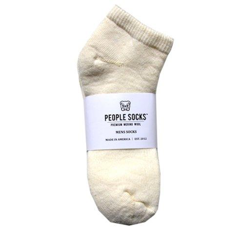 4 Pair Natural Mens 8-12 Low Cut Lightweight Merino Wool Socks