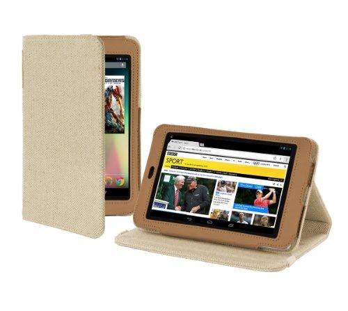 Cover-Up Google Nexus 7 Tablet Version Stand Natural Hemp Case - (Sahara Brown)