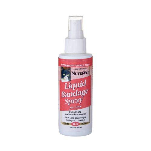 Nutri-Vet Liquid Bandage Spray for Cats, 4-Ounce