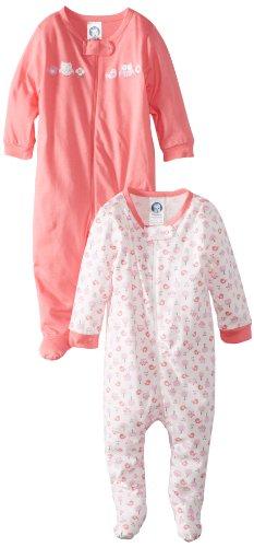Gerber Baby-Girls Newborn 2 Pack Sleep N Play Owl,Birds and Flowers,6-9 Months