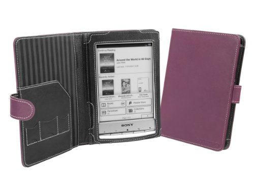Cover-Up Sony Reader PRS-T1 / PRS-T2 Cover Case (Book Style) - Purple