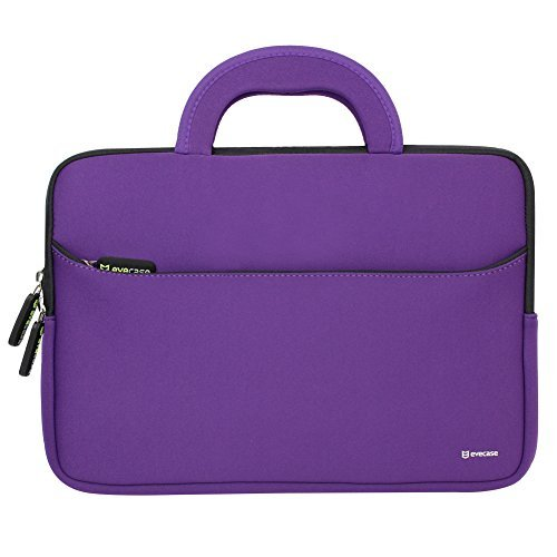 Evecase Acer Chromebook 11.6-Inch CB3-111-C670 Neoprene Sleeve Pouch Case with Handle For Acer Chromebook 11 C670 / C720 / C710 Laptop PC - Purple
