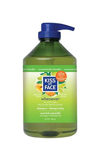Kiss My Face Whenever Shampoo, Green Tea & Lime, Value Size, 32 Ounce