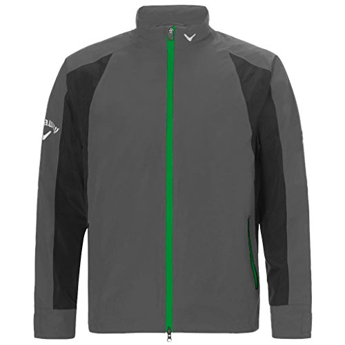2015 Callaway Green Grass Weather Series Mens Waterproof Golf Rain Jacket Castlerock Medium