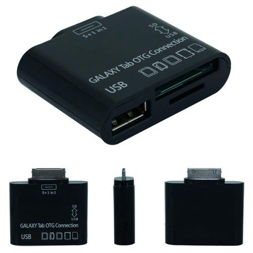Skque 5 In 1 Card Reader OTG connection kit for Samsung Galaxy Tab 7.0 Plus P6210 P6200 7.7 P6800 P6810 8.9 P7310 P7300 10.1 P7510 P7500