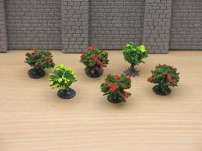 Jordan Scenic HO Gauge Pack of 6 Coloured Bushes # 9A