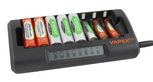 Digital Additions® Fast 8 Battery Smart Charger for 1-8 AA or AAA Ni-MH with LCD Charge Display
