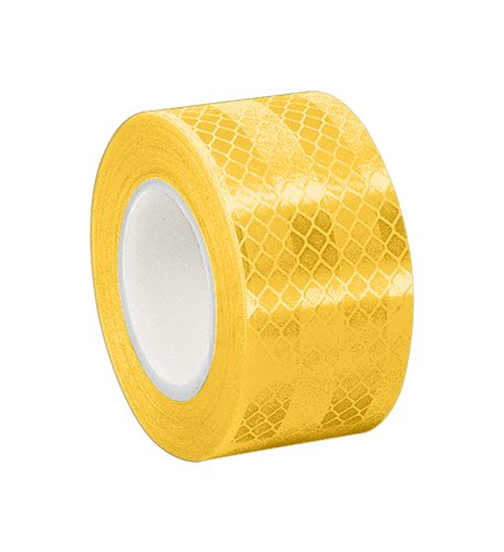 TapeCase Yellow Micro Prismatic Sheeting Reflective Tape Converted from 3M 3431, 0.875 x 5 yd