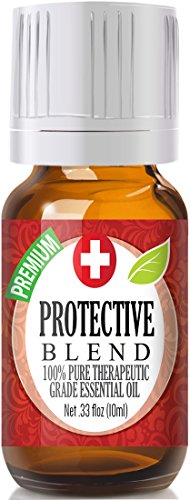 Protective Blend 100% Pure, Best Therapeutic Grade Essential Oil - 10ml - Comparable to DoTerra's OnGuard - Sweet Orange, Clove, Cinnamon Bark, Eucalyptus, Rosemary