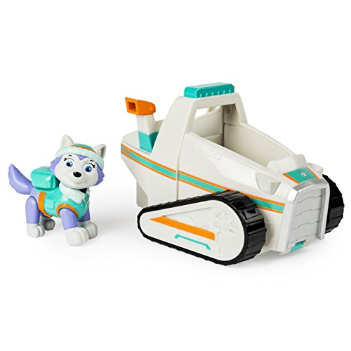 Paw Patrol Everest's Rescue Snowmobile, Vehicle and Figure (works with Paw Patroller)