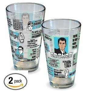 ICUP Archer Quotes Pint Glass, 16 oz 2 Pack