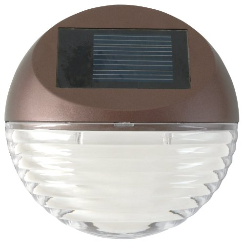 Moonrays 95027 Solar Deck Light Wall Mount Sconce, Round