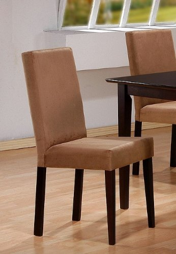 Coaster Microfiber Chairs, Cappuccino, Set of 2