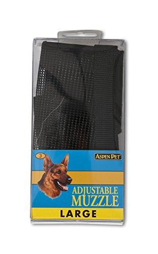 ASPEN PET PRODUCTS 27252 Large Adjustable Dog Muzzle, Black