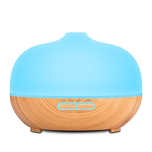 Anypro Aroma / Essential Oil Diffuser for Aromatherapy Ultrasonic Cool Mist Humidifier 300ml Frosted Glass