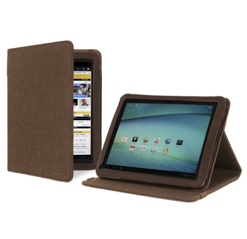Cover-Up Archos 97 Carbon 9.7-inch Tablet Version Stand Natural Hemp Case - (Cocoa Brown)