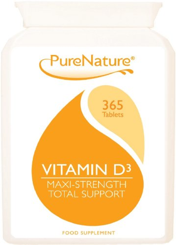 Vitamin D3 5000 IU 365 High Strength & Potency (Full Year Supply) Easy to Swallow Cholecalciferol Tablets UK's Best Quality Supplement Suitable for Vegetarians-100% Quality Money Back Guarantee. Made in UK & FREE UK DELIVERY
