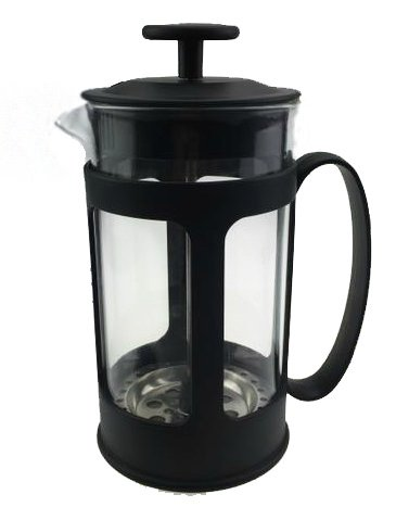 RoanWare ™ Ooh La La French Press Coffee,Tea & Espresso Maker with 34-Ounce Heat Resistant Glass, Black