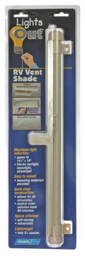Camco 42913 Retractable Lights Out Vent Shade (Cream)