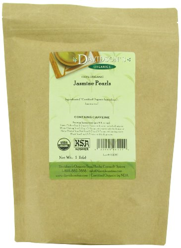Davidson's Tea Bulk, Herbs and Spice Jasmin Pearl Tea, 16-Ounce Bag