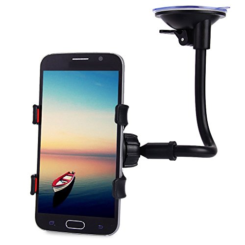 AutoLover® Universal Long Arm Car Windshield Holder 360 Degrees Rotation Mount Bracket Stand for Cell Phones