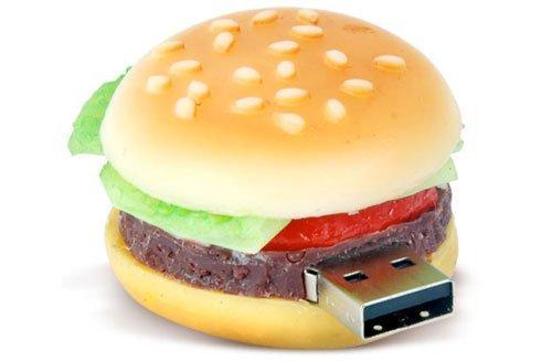 High Quality 8 GB Food Hamburger USB Flash drive