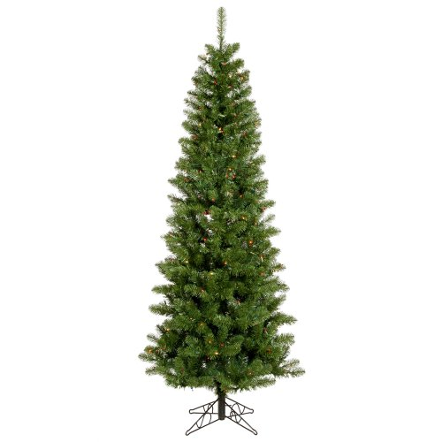 Vickerman 75' Salem Pencil Pine Artificial Christmas Tree with 350 Multi-colored lights