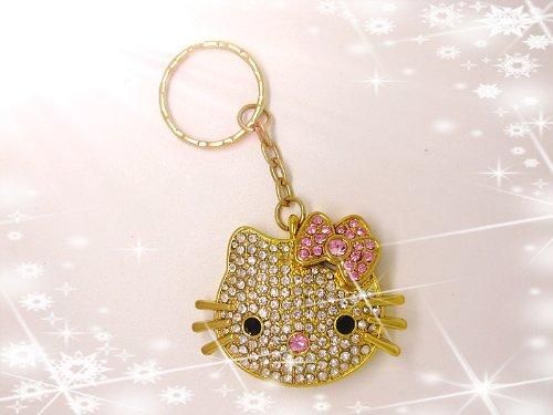 High Quality 8gb Hello Kitty Crystal Jewelry USB Flash Memory Drive keychain