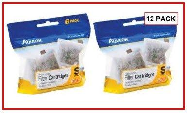 Aqueon 12-Pack Filter Cartridge, Small
