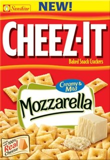 Cheez-It Baked Snack Crackers, Creamy & Mild Mozzarella, 13.7-Ounces