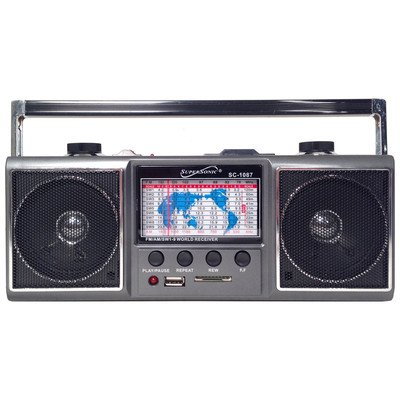 Supersonic SC1087 Radio,AM/FM/SW,USB/SD,MP3 Player