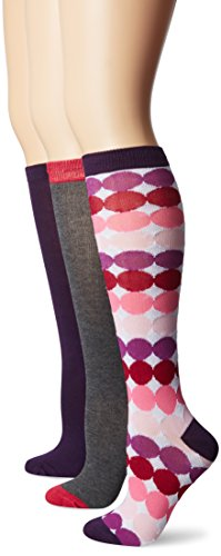 Betsey Johnson Women's Ombre Dots Knee-High Socks 3-Pack