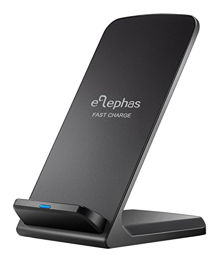 Wireless Fast Charger, ELEPHAS Qi Wireless Quick Charging Stand for Samsung Galaxy S7, S7 Edge, S6 Edge Plus, Black