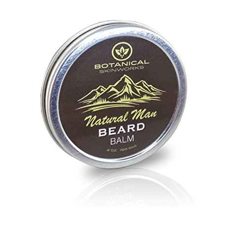 Natural Man Beard Conditioning Balm with Jojoba and Argan Oils - All Natural Beard Conditioner By Botanical Skinworks