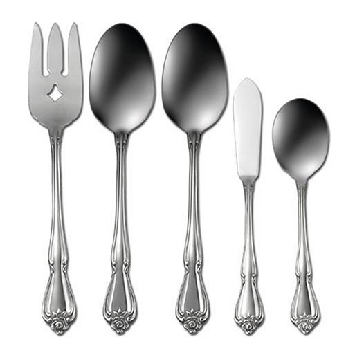 Oneida True Rose 24-Piece Stainless-Steel Flatware Set, Service for 4