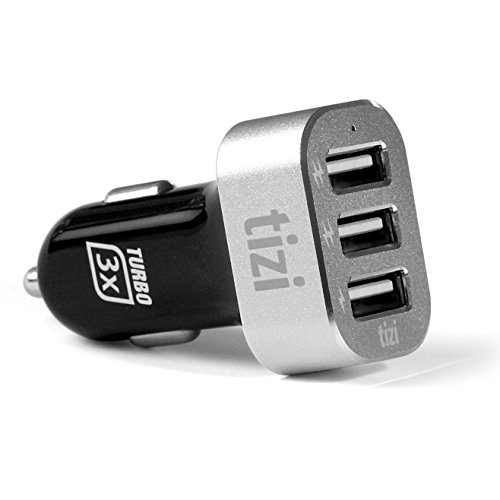 equinux tizi Turbolader 3x - 3 port USB Auto Max Power, German engineered car charger, 5.1A High Power each USB port up to 2.1A