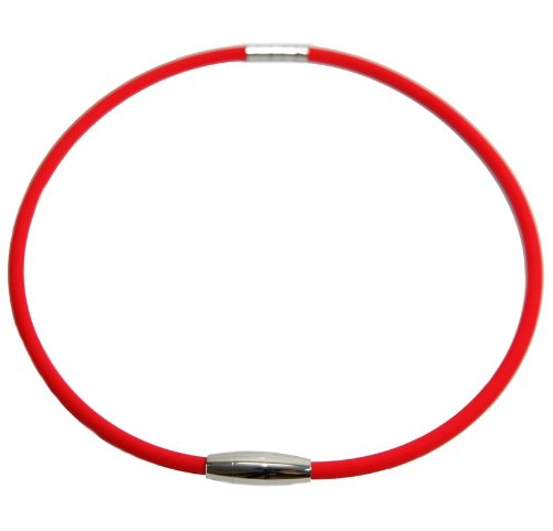 Best New Red Ttianium Magnetic Therapy Power Sport Energy Balance Baseball Necklace Buy Now