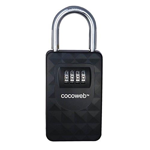 Cocoweb Key Vault - Heavy Duty Key Storage Lock Box with Personalized Combination Padlock - HKPV-S