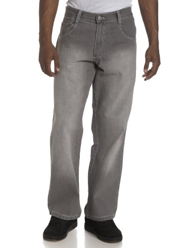 Southpole Men's Relaxed Fit Core Denim,Grey Sand,36x32