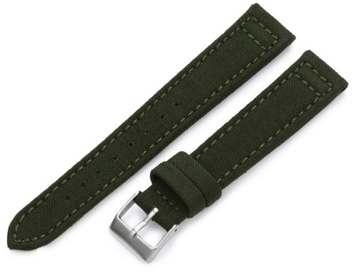 Hadley-Roma Men's MSM850RAB180 18mm Army Green Genuine 'Cordura' Watch Strap